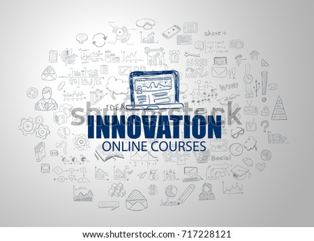 online education concept with business doodle design style onli stock photo © davidarts