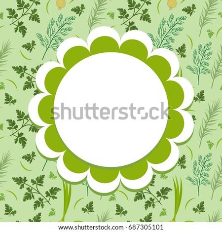 травы Label шаблон дизайна овощей кадр Сток-фото © lucia_fox