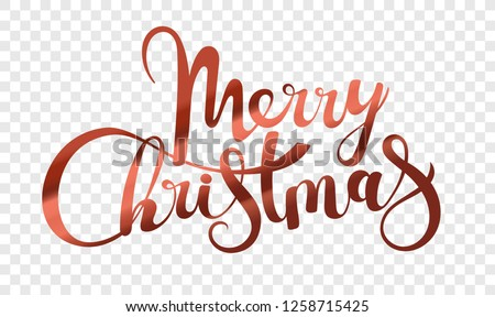 merry christmas typography illustration on a transparent background vector logo emblems text desi stock photo © articular