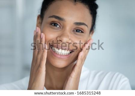 Güzel kadın yüz cilt tedavi soyut bulanık Stok fotoğraf © Nobilior
