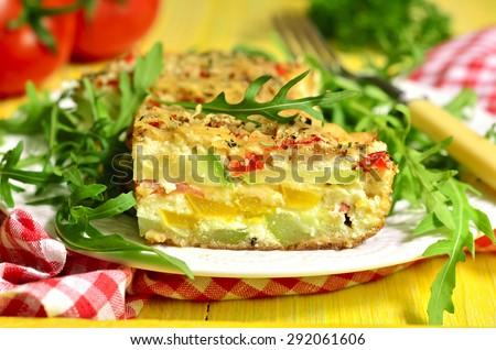 vegetarian gratin with ricotta Stock photo © M-studio