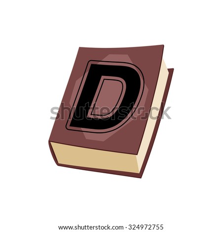 Letter D on e cover of  book. Old Edition with alphabetical icon Stock photo © popaukropa