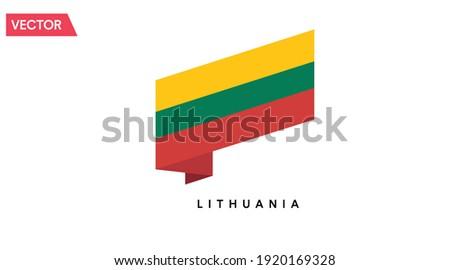 Литва флаг лента изолированный символ лента Сток-фото © popaukropa