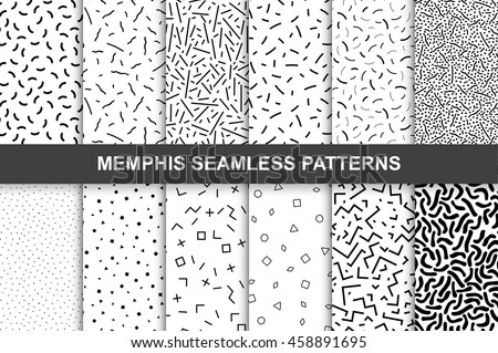 abstract doodles line curves seamless pattern retro fabric orna stock photo © popaukropa