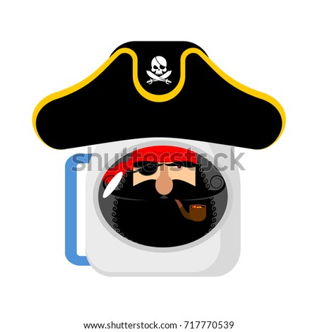 space pirate astronaut in helmet filibuster spaceman eye patch stock photo © popaukropa