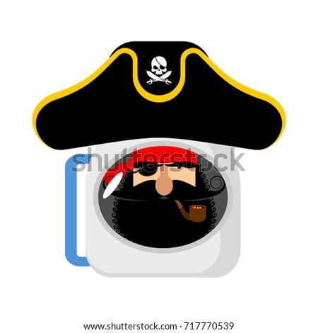 пространстве пиратских астронавт шлема глаза Сток-фото © popaukropa