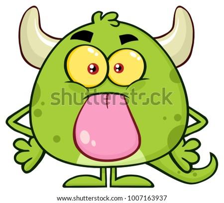 Cute зеленый монстр Cartoon характер Сток-фото © hittoon