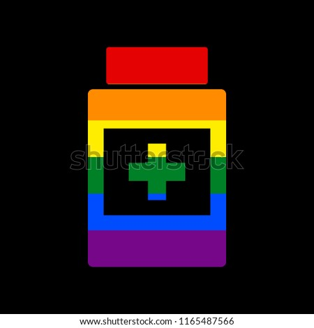 Pills with LGBT flag. Vector illustration. Medical bottle tablet Stock photo © popaukropa