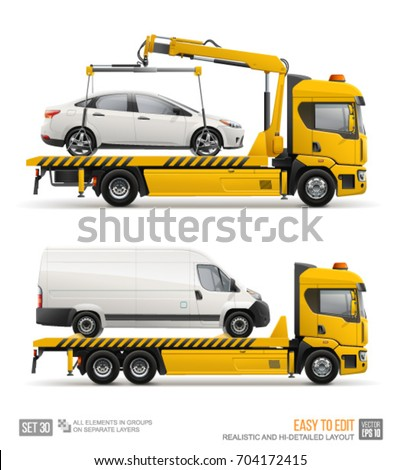 Tow truck isolated. Wrecker for Evacuates auto. Help on road. Ve Stock photo © MaryValery