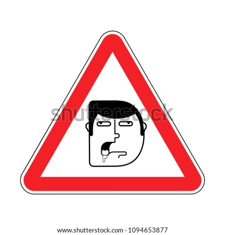 attention stupid caution blunt road red warning sign look out stock photo © popaukropa