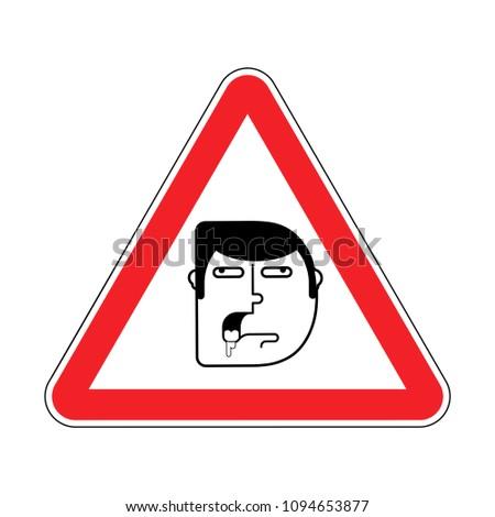 Figyelem hülye vigyázat út piros figyelmeztető jel Stock fotó © popaukropa