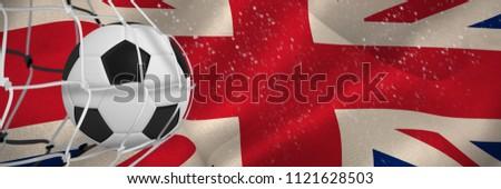 Balón de fútbol objetivo neto digitalmente generado gran bretaña Foto stock © wavebreak_media