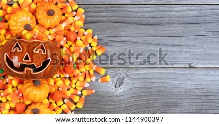 Halloween şeker yıpranmış ahşap format kopyalamak Stok fotoğraf © tab62