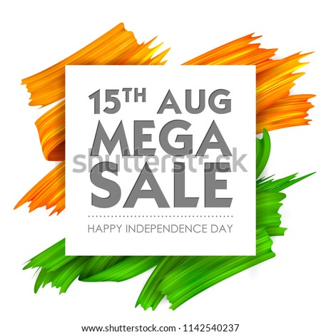 Sale Promotion and Advertisement for 15th August Happy Independence Day of India Stock photo © stockshoppe