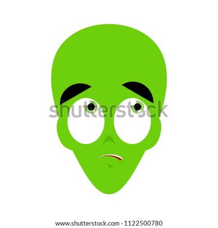 Ufo zdziwiony zielone obcych twarz emocji Zdjęcia stock © popaukropa