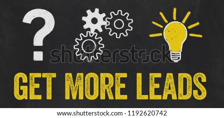 Question Mark, Gears, Light Bulb Concept - Get more leads Stock photo © Zerbor