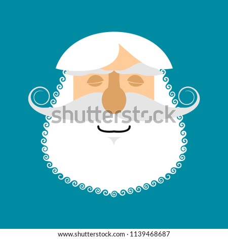 Old man Sleeping Emoji. senior with gray beard face asleep emoti Stock photo © popaukropa