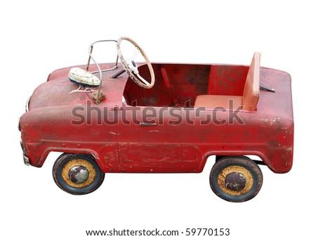 небольшой белый ретро игрушку автомобилей Сток-фото © sqback