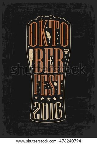 Oktoberfest cartaz ilustração tipografia carta pretzel Foto stock © articular