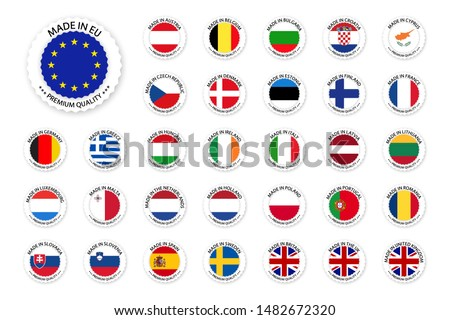 Modern vektor Szlovénia címke izolált fehér Stock fotó © kurkalukas