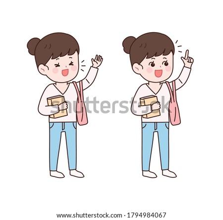 Asian adolescente vecteur adulte personnes Photo stock © pikepicture