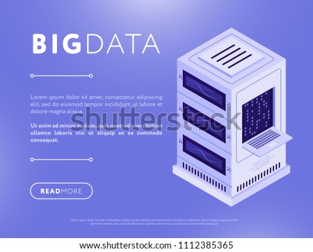 Server. Data center Isometric style. Internet industry. Data tra Stock photo © MaryValery