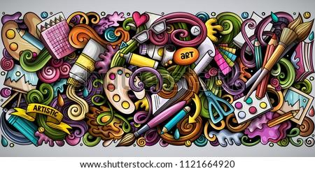 Rajz vektor firkák művészet vízszintes csík Stock fotó © balabolka