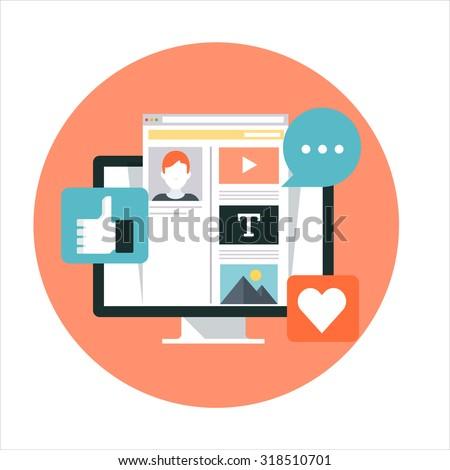 digital · comercialización · moderna · diseno · estilo · colorido - foto stock © decorwithme