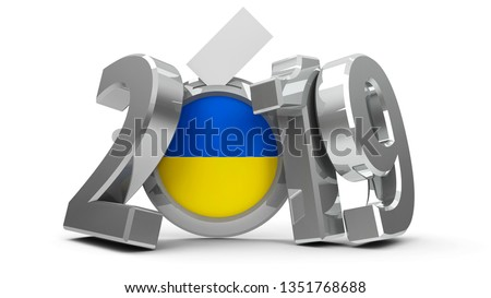 Elections ukraine 2019 on white background. Isolated 3D illustra Stock photo © ISerg