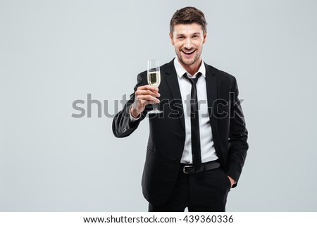 Stockfoto: Portret · jonge · zakenman · zwart · pak