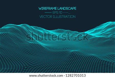 drótváz · háló · felület · illusztráció · futurisztikus · technológia - stock fotó © pikepicture