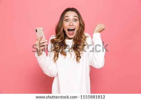 image of young european woman 20s screaming and holding bucket w stock photo © deandrobot