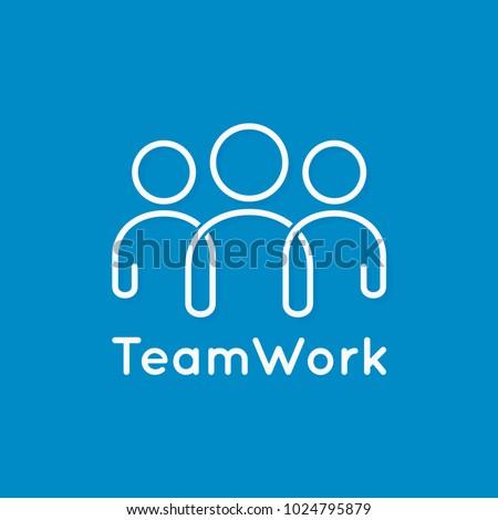 Mensen verbinding team icon logo symbool Stockfoto © blaskorizov