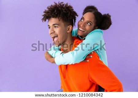 Foto tevreden afro-amerikaanse man zus Stockfoto © deandrobot