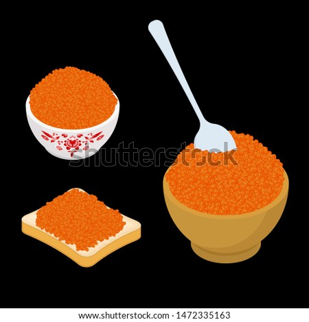 Russian national food set. red caviar and glass of vodka. Sandwi Stock photo © MaryValery