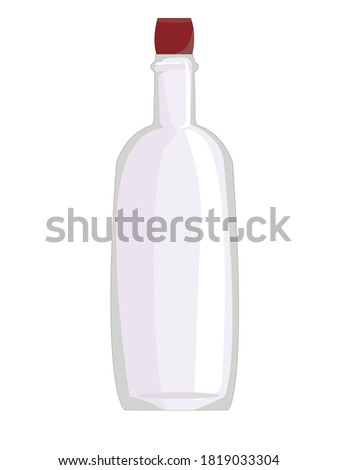 transparent glass vector single shape luxury icon empty clear glass cup for water drink wine stock photo © pikepicture