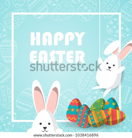 Happy easter type text greeting card. Red egg on white background Stock photo © orensila