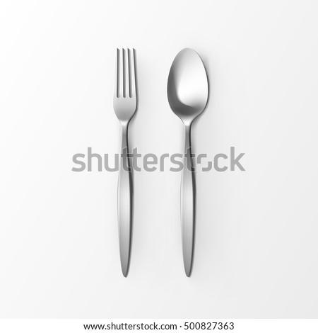 ложку вектора серебро металл Top мнение Сток-фото © pikepicture
