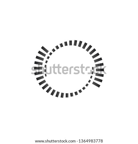 Geometric circle element. Monochrome circle shapes. Loader concept. Spiral element. Vector illustrat Stock photo © kyryloff