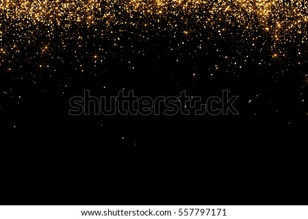 Champagne Flutes In Golden Sparkle Background with golden confet Stock photo © dashapetrenko