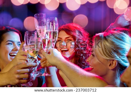 Women Celebrating A Bachelorette Party Toasting Champagne Stock photo © AndreyPopov