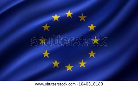 Bandeiras europeu união bandeira inglaterra bandeira Foto stock © butenkow