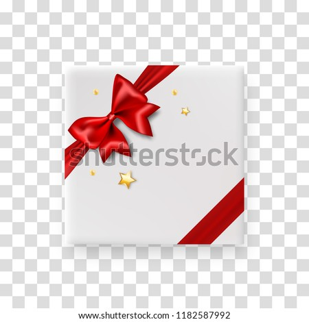 red box with golden bow on white background isolated 3d illustr stock photo © iserg