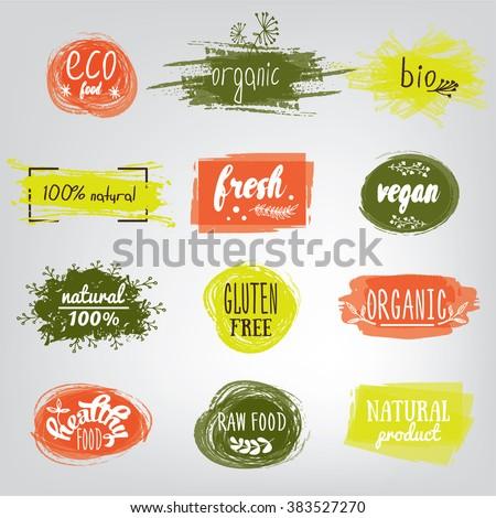 bio · ecologie · organisch · logos · iconen - stockfoto © marish