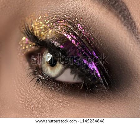 красивой глазах блеск макияж праздник Сток-фото © serdechny