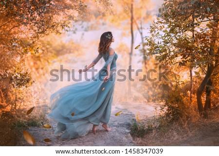 Retrato belo mulher jovem cabelo voador foto Foto stock © serdechny
