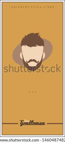 Retro gentleman flyer poster vector Stockfoto © vector1st