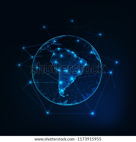 Mapa do mundo américa latina Argentina Brasil Peru Foto stock © Glasaigh