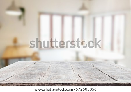 Image of Selected focus empty wooden table and Coffee shop or bl Stock photo © Freedomz