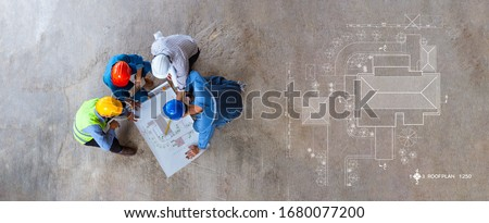 Engineering or Creative architect in construction project, Engin Stock photo © Freedomz